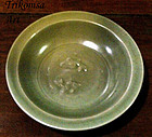 Chinese Celadon Twin Fish Dish Song/Yuan Dynasty