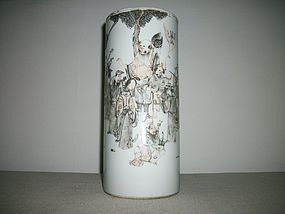 CHINESE HAT STAND VASE