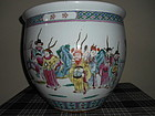 CHINESE FAMILLE ROSE FISH BOWL