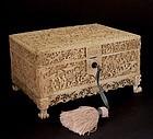 Chinese ivory sewing box