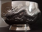 Chinese silver bowl stamped Wang Hing