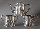 Chinese silver tea set Luen Wo