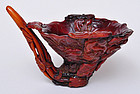 A Chinese Horn Finely Carved Libation Cup
