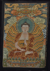 A Thangka Embroidery of Buddha