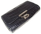 Authentic Marc Jacobs Navy Alligator Clutch Handbag NEW