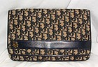 Vintage Authentic Christian Dior Navy Logo Clutch Purse