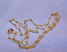 Roberto Coin 18K Gold 7 Station Diamond Chain Necklace