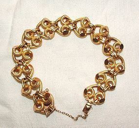18K Yellow Gold Link Retro Bracelet 8.12