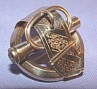 Victorian 10K Yellow Gold Buckle Pin, Engraved