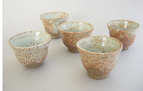 Small Cups for Tea / Sake, Shino Glaze, George Gledhill