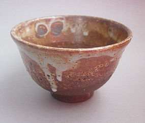 Tea Cup, Chawan; Shino Glaze, by George Gledhill