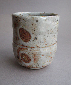 Tea Cup, Yunomi, Shino Glaze, by George Gledhill