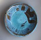 Dish; Bamboo Ash, Copper, Iron glaze; Sachiko Furuya
