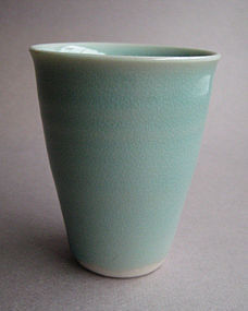 Sake/Whisky/Tea Cups, Porcelain; by Hanako Nakazato