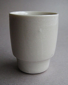 Sake / Whiskey Cups, Porcelain, by Hanako Nakazato