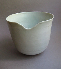 Bowl, White Shino Glaze; by Sachiko Furuya