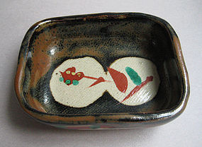 Small Dishes, Kaki Glaze; Isamu Tagami; Mashiko