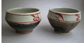 Tea Cups, Mashiko-yaki, by Munetoshi Tagami