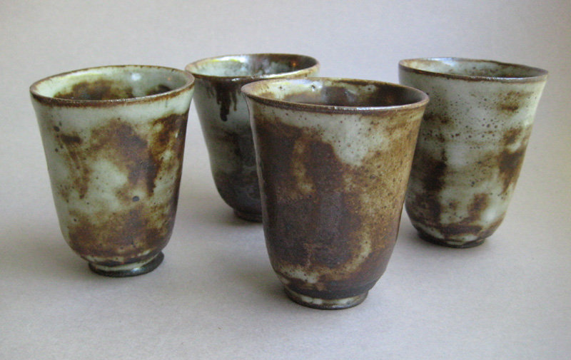 Tea or Sake Cups, set of four, by Sachiko Furuya