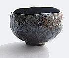Tea Bowl, Chawan, Black Raku, George Gledhill