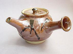 Mashiko Teapot, Kyusu, Kaki glaze