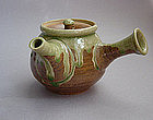 Mashiko Teapot, Kyusu, Ash Glaze