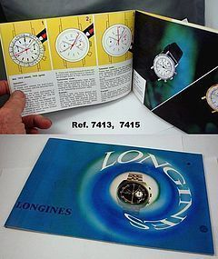 LONGINES Chronograph Series Identification & Instruction Brochure