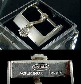 ROLEX 14mm Ladies Steel Logo Buckle ROLEXSA Swiss