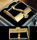 Vintage ROLEX 14mm Logo Buckle 18k Gold .750 Swiss Rare