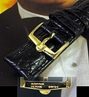 Omega Constellation 16mm Yellow Logo Buckle 18mm Strap