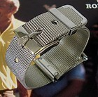 ROLEX 16mm Logo Buckle 20mm MESH METAL Old Style Strap