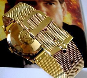 Constellation Series OMEGA Logo Buckle 18mm Mesh Strap