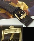 Rolex 16mm Yellow Logo Buckle 19mm Tobacco color Lizard