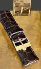 ROLEX 18k Yellow Gold Logo Buckle 20mm Crocodile Strap