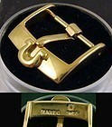 Bargin OMEGA 16mm Yellow Logo Buckle PLAQUEQ Swiss