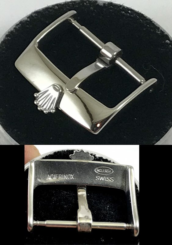 Rolex 18mm Steel Logo Buckle ACIERINOX ROLEXSA SWISS