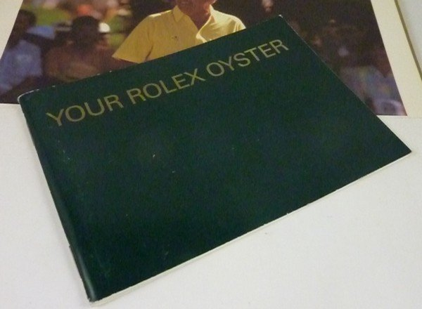 Vintage ROLEX Green instruction book.  3.5 by 5 inch si