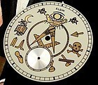 Elgin MASONIC Custom DIal to fit 12 size Elgin Waltham