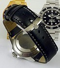 ROLEX SUBMARINER GMT Model 20mm White stitched Leather