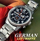 German AF Chronograph Luftwaffe Officers Iron Cross 58