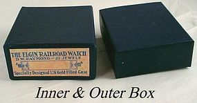 Elgin Railroad Box 21j B.W. Raymond 16 Size Reissue