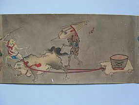 Handscroll, hyakki yako, Yoshinobu, Kano,Japan 18th c.