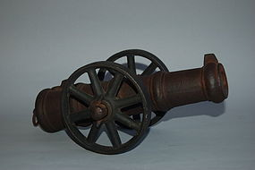 Cast iron miniature cannon, Japan, Satsuma, Meiji era