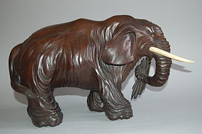 Sculpture of elephant, wood, Japan, 19th century
