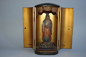 Nichiren zushi shrine, Kishimojin, baby, Japan ca 1800