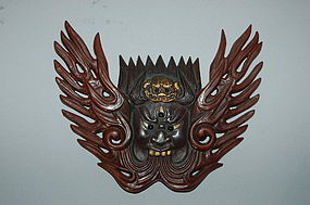 Maedate, helmet ornament, Aizen  Myoo, Japan, 20th c.