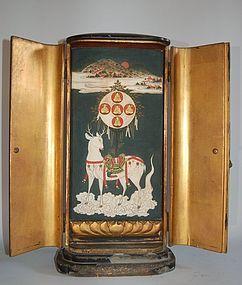 Zushi, shrine, Kasuga Mandala, Jizo, Kannon, Monju, Yakushi, 17th c