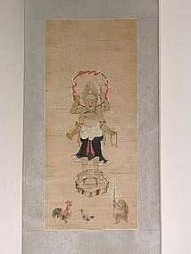 Scroll painting, Shomen Kongo, Japan 18th century