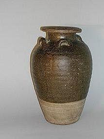 Storage jar, stoneware, Thailand, Sawankhalok