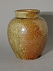 Small storage jar, stoneware, Shigaraki, Japan 19th c